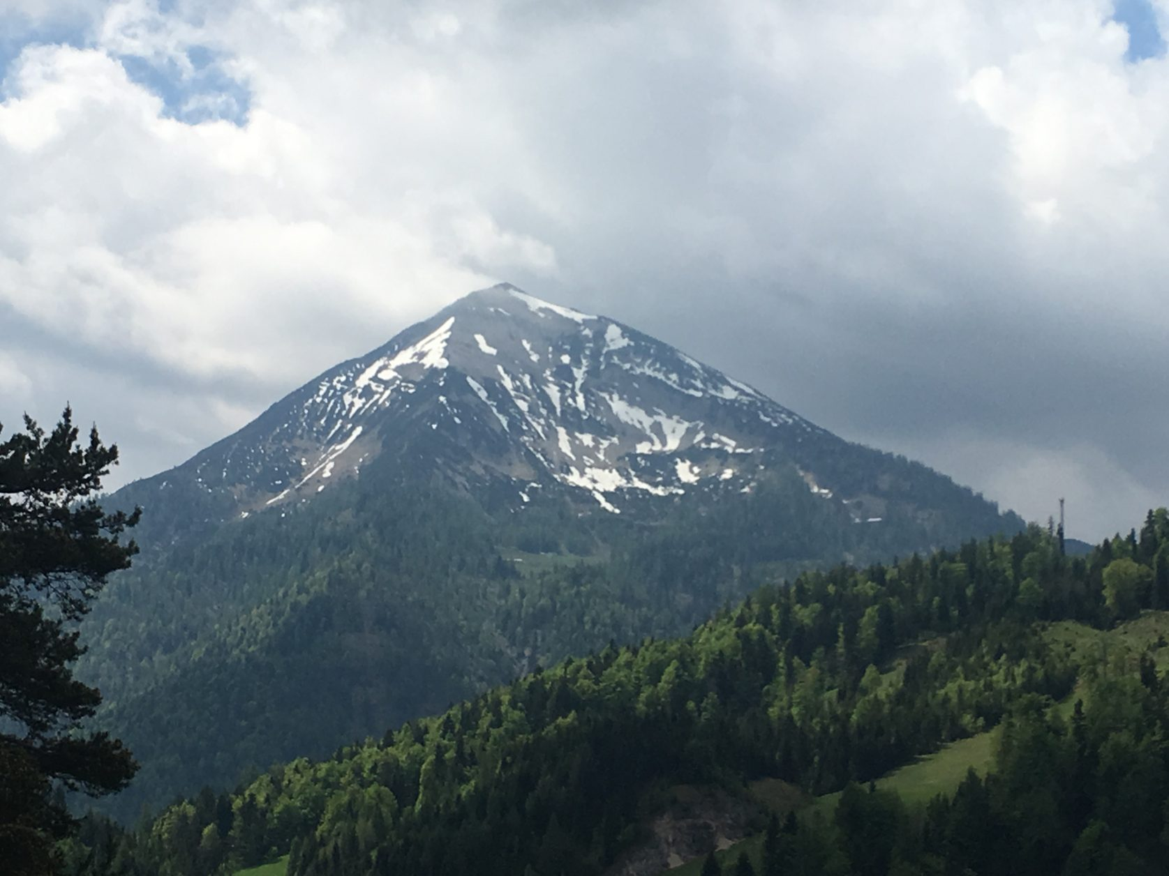 Berge vor der Tür, Blick aus dem Fenster des Posthotels Achenkirch