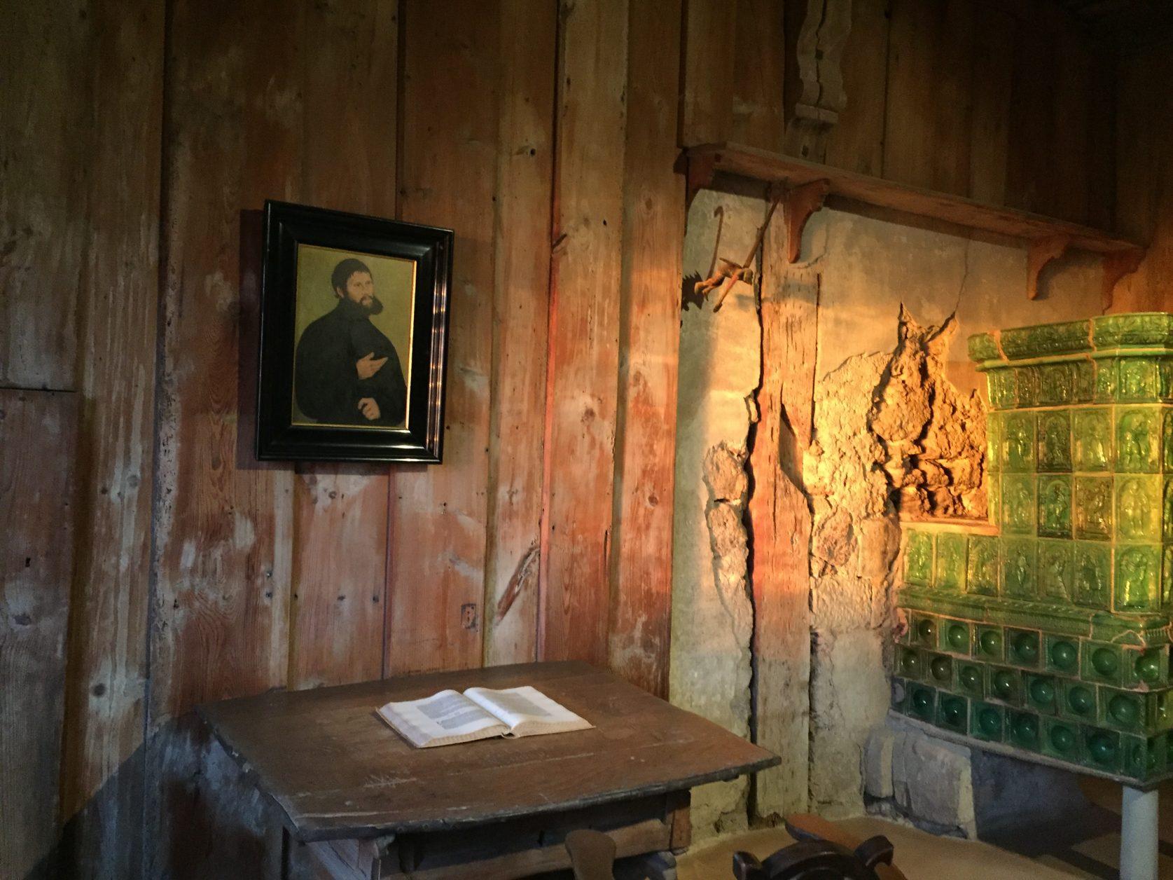 Die Lutherstube auf der Wartburg, den Tintenfleck konnte ich nicht mehr finden, Foto: D.Weirauch