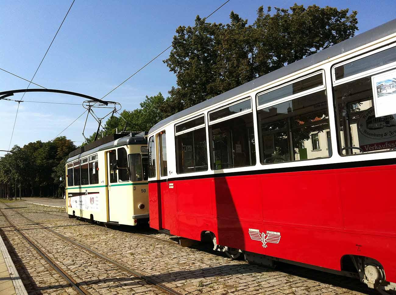 Die Naumburger Straßenbahn Foto: D.Weirauch