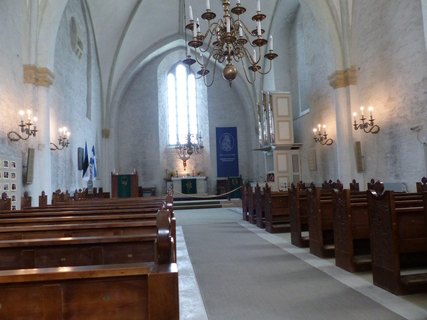 Blick in die Domkirche von Haapsalu Foto: D.Weirauch
