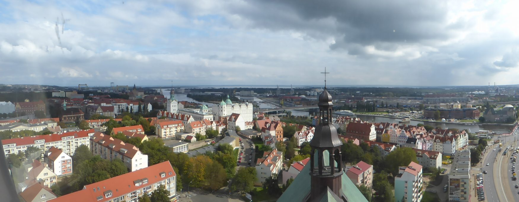 Blick auf die Silhouette von Stettin mit dem Schloss. Foto: D. Weirauch