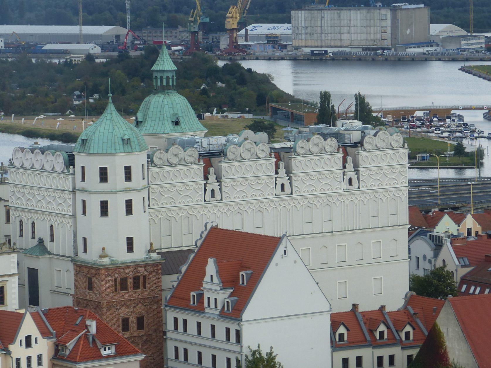 Blick auf das Schloss der Pommerschen Herzöge in Stettin Foto: Weirauch