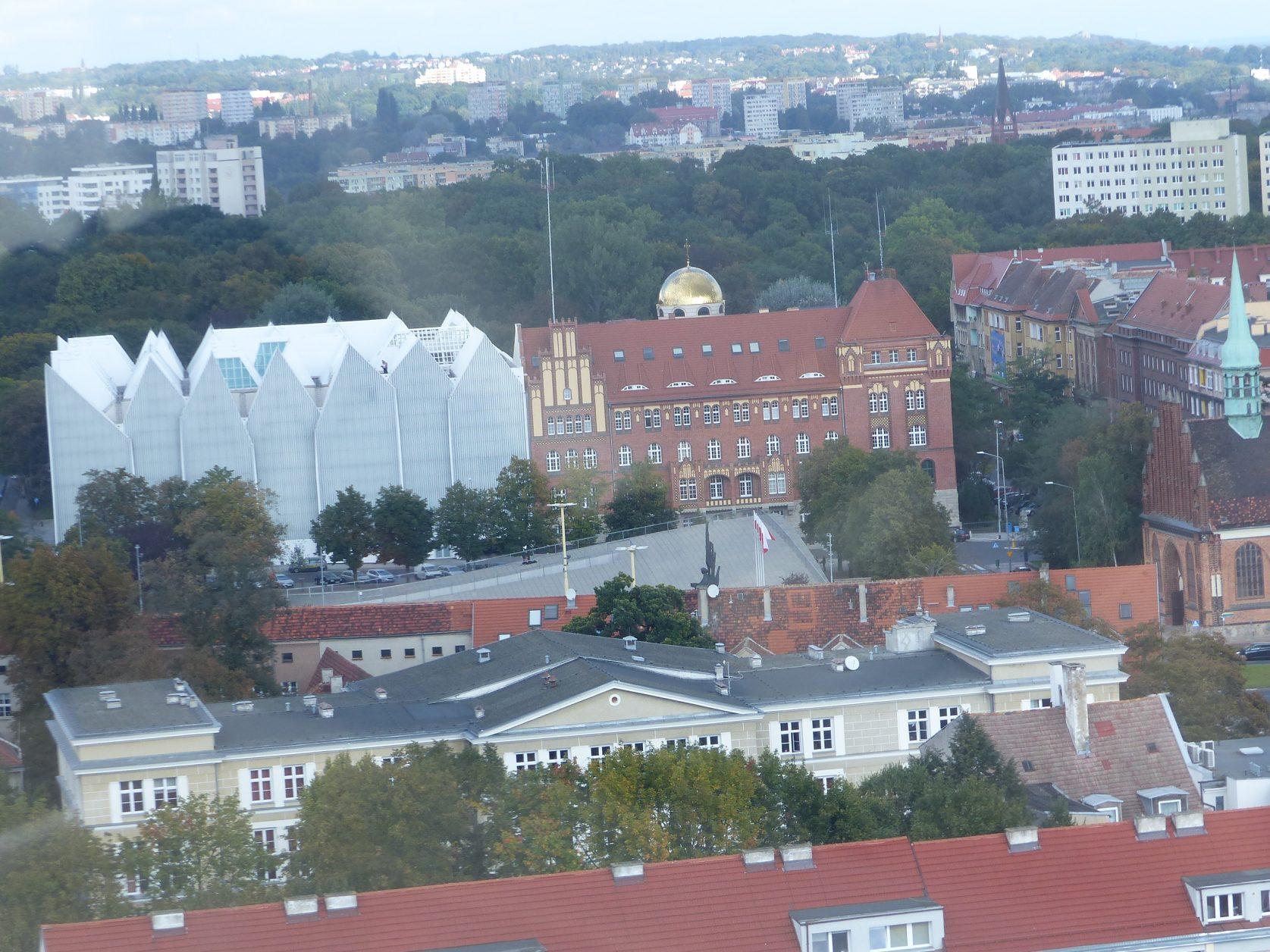 Blick auf die preisgekrönte Philharmonie in Stettin, Foto: Weirauch