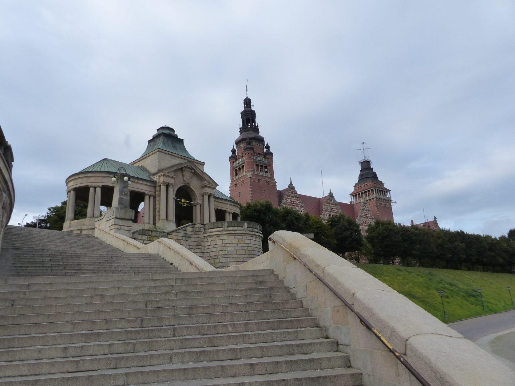 Blick auf die Hakenterrasse in Stettin, Foto: Weirauch