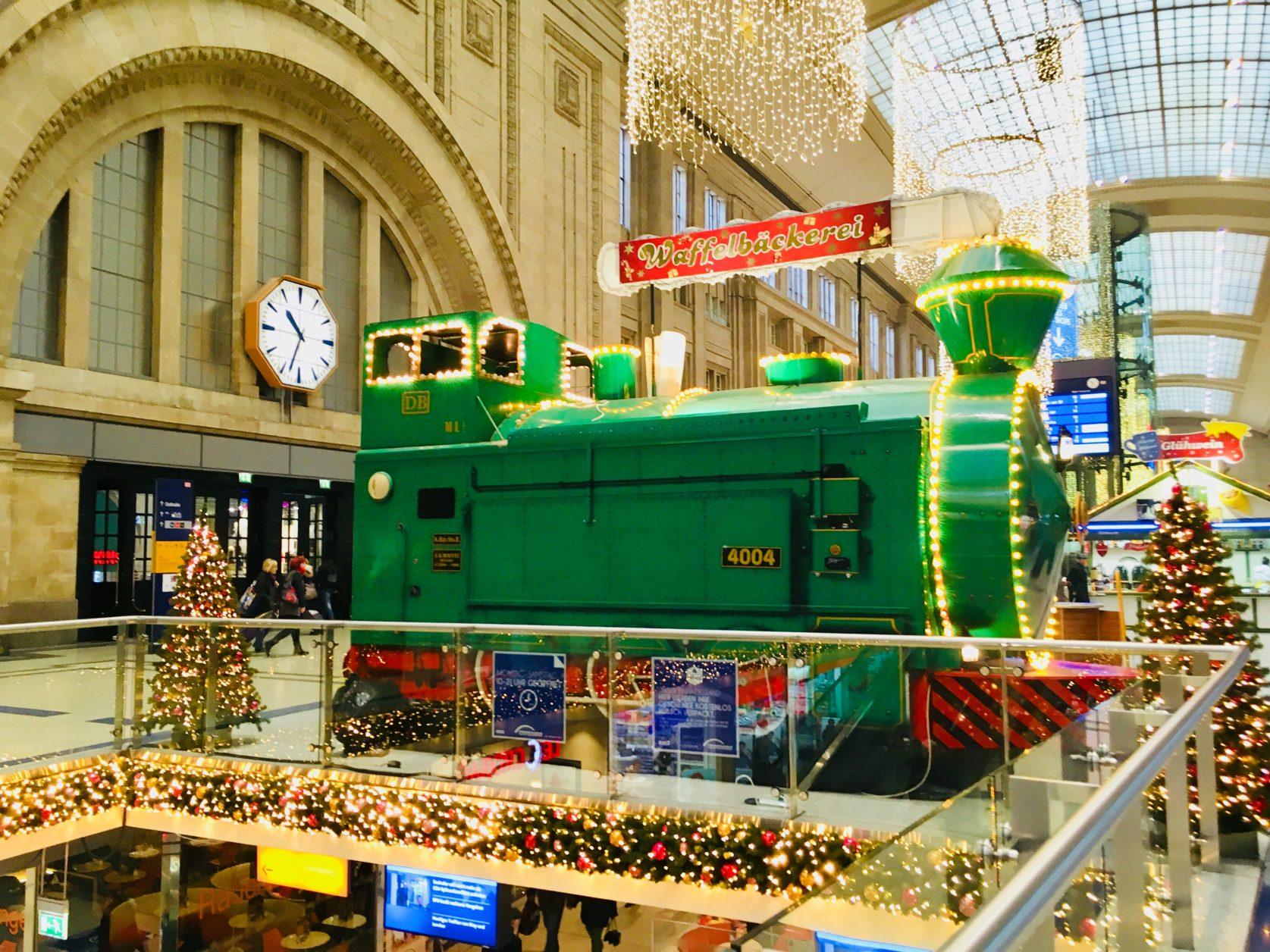 Weihnachten auf dem Hauptbahnhof Leipzig, Foto: Weirauch