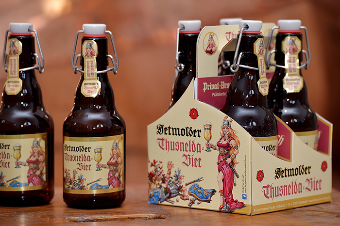 Preisgekrönt: das Detmolder Thusnelda Bier, , Foto: Brauerei Strate