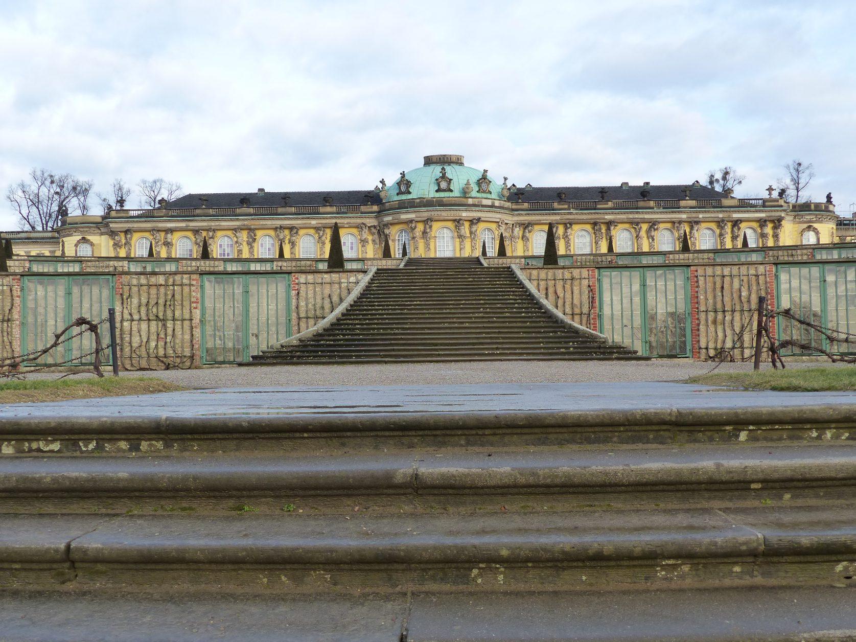 Schloss Sanssouci in Potsdam am 24. Januar 2018, Foto: D.Weirauch