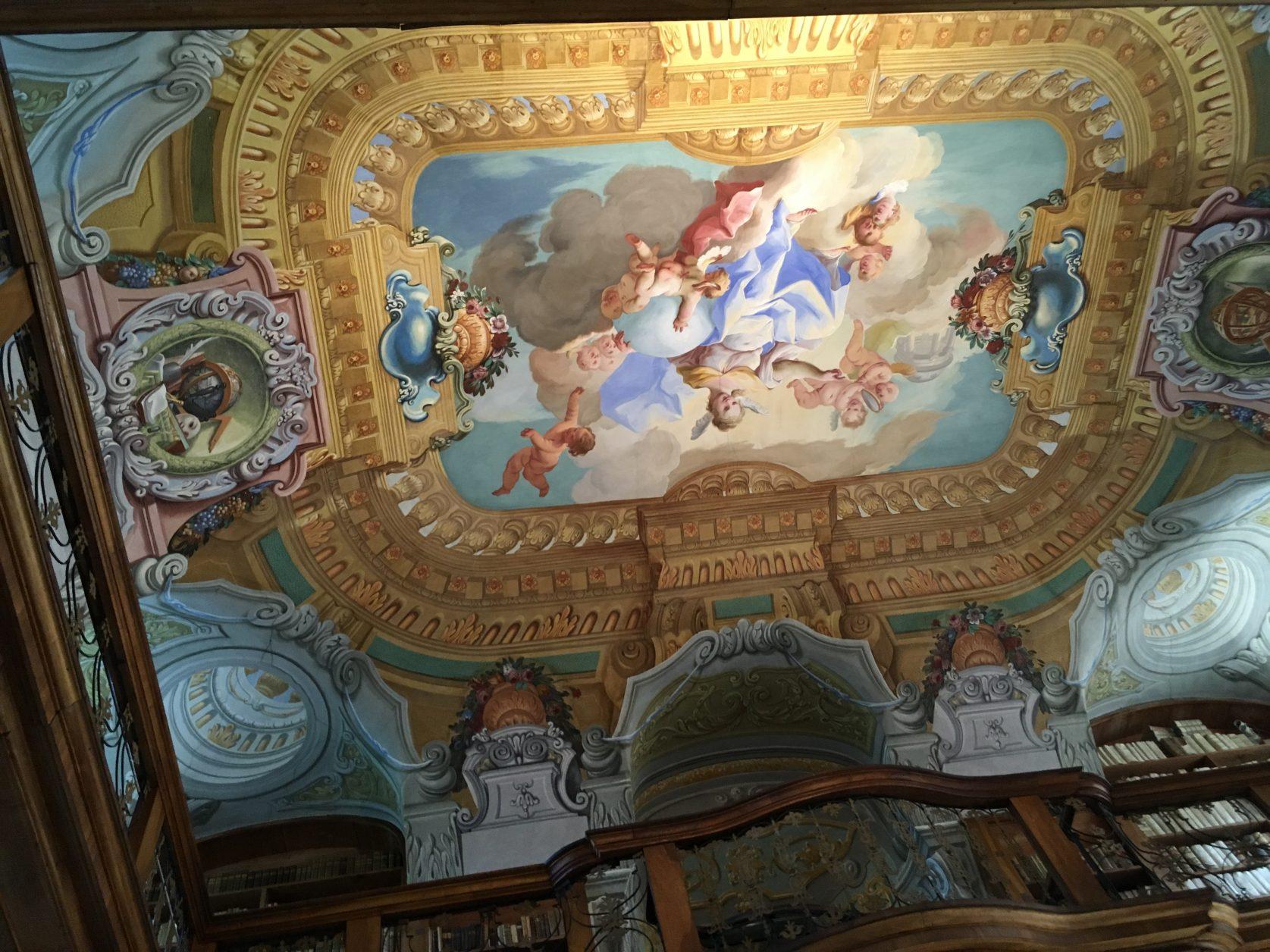 Decke in der Bibliothek von Stift Melk, Foto: Weirauch
