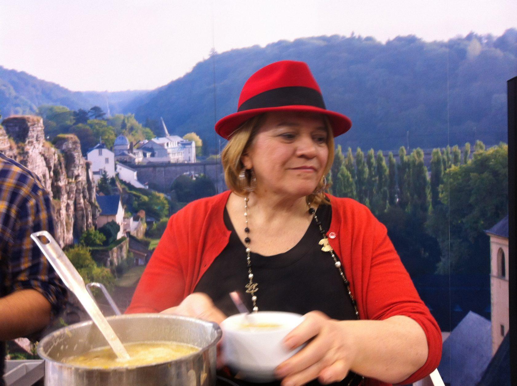 Bei einem ITB - Termin: Starköchin Lea Linzer Foto. Weirauch