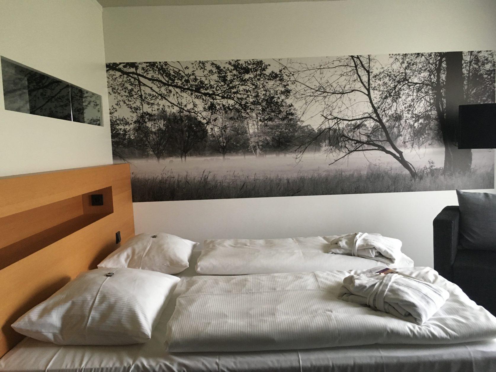Angekommen Im Stilvollen Zimmer Mit Klaren Linien Und Modernem Raum  Und  Farbkonzept, Fällt Unser Blick Auf Eine Großformatige Schwarz Weiße  Fototapete ...