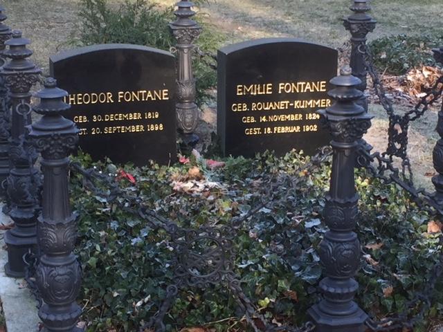 Grabstätte der Familie Fontane in Berlin, Foto. Weirauch