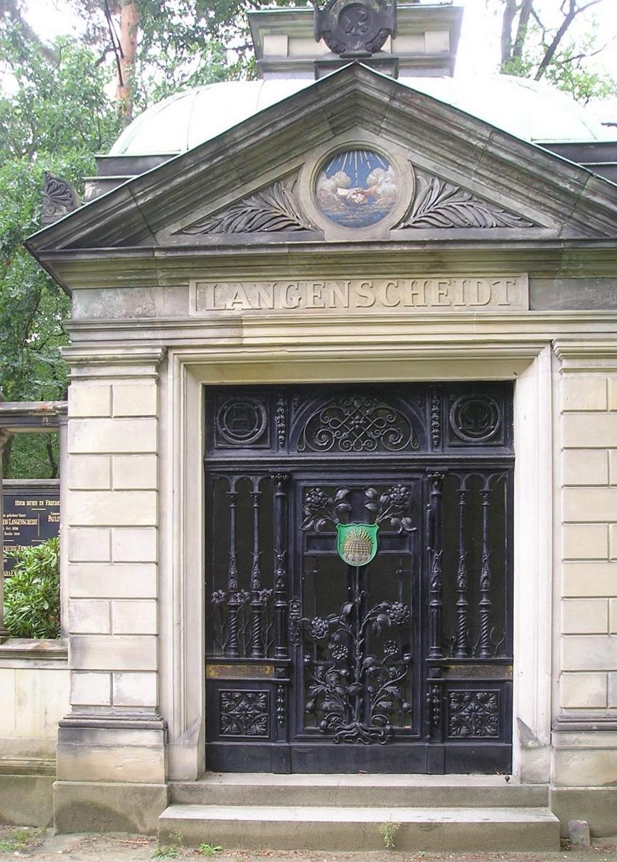 Mausoleum der Familie Langenscheidt, Foto. Weirauch