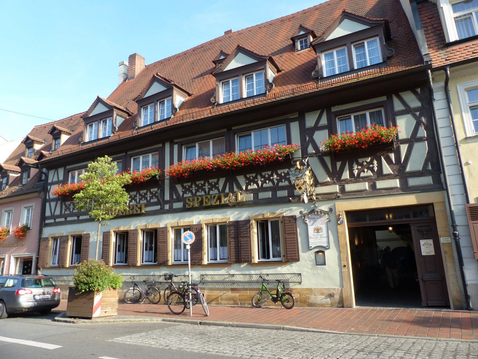 Eine von mehreren Brauereigaststätten in Bamberg, Foto: Weirauch