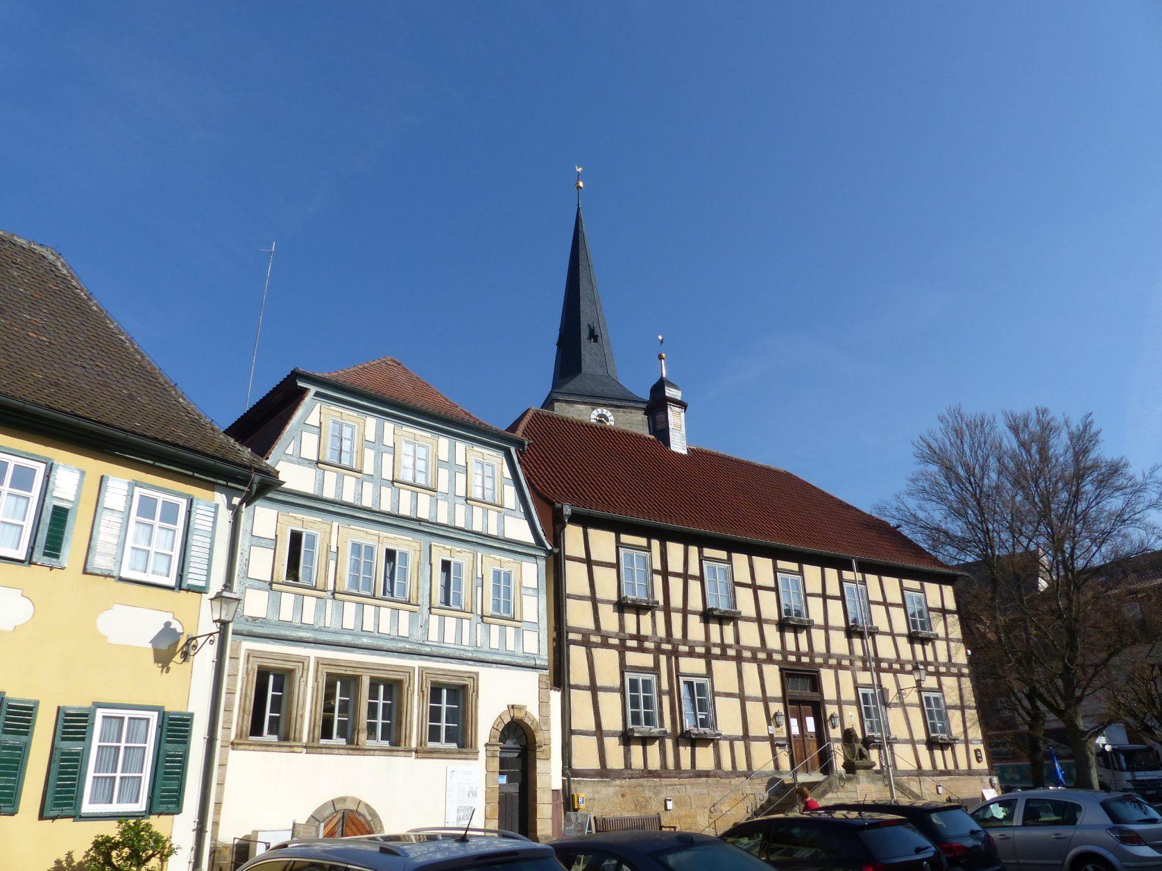Das Rathaus von Sesslach