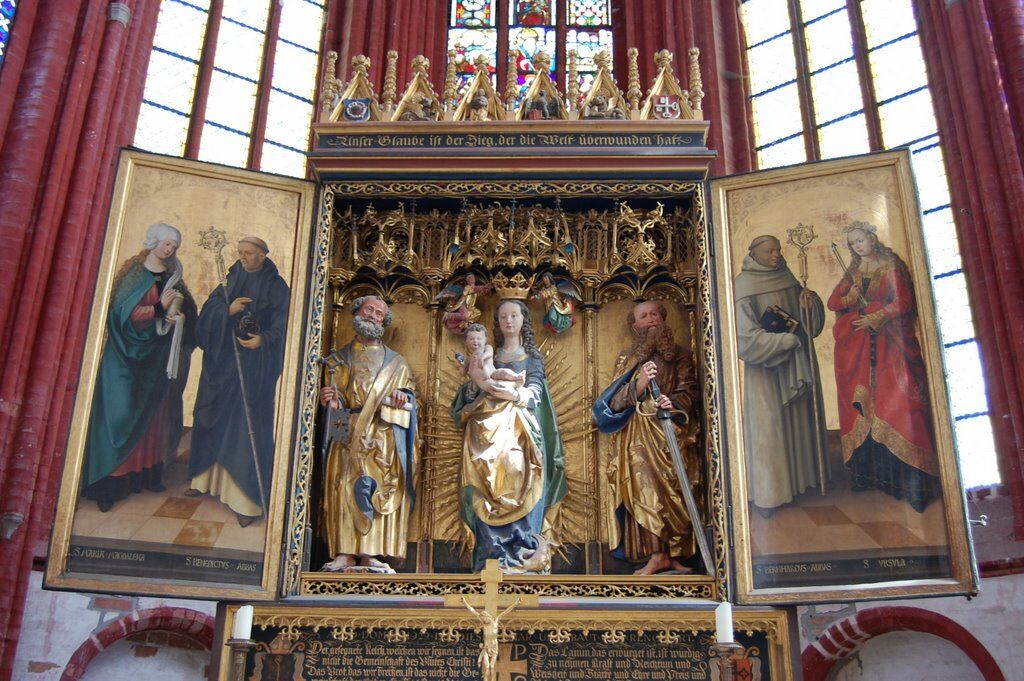 Vorderseite des Altars Foto: Domstift Brandenburg