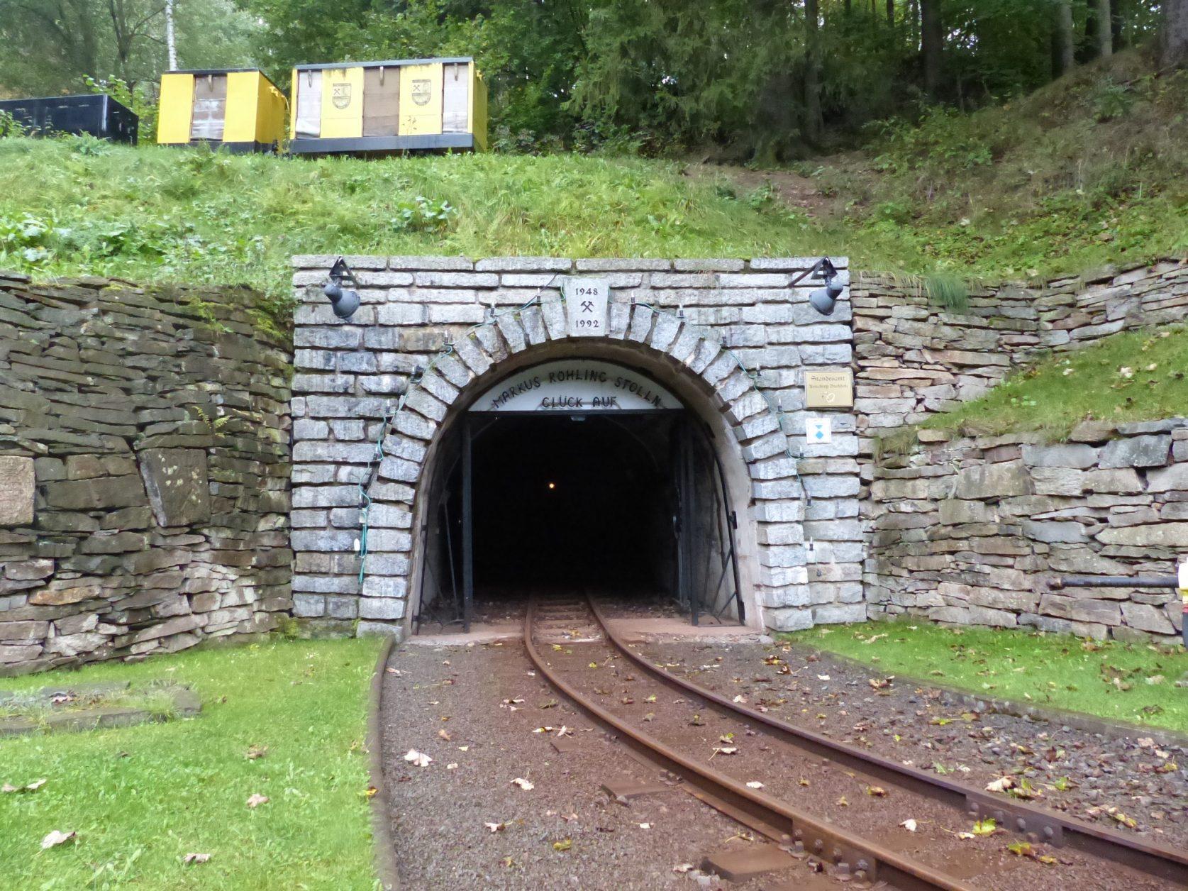 Einfahrt zum Markus-Röhling-Stollen Doto: Weirauch