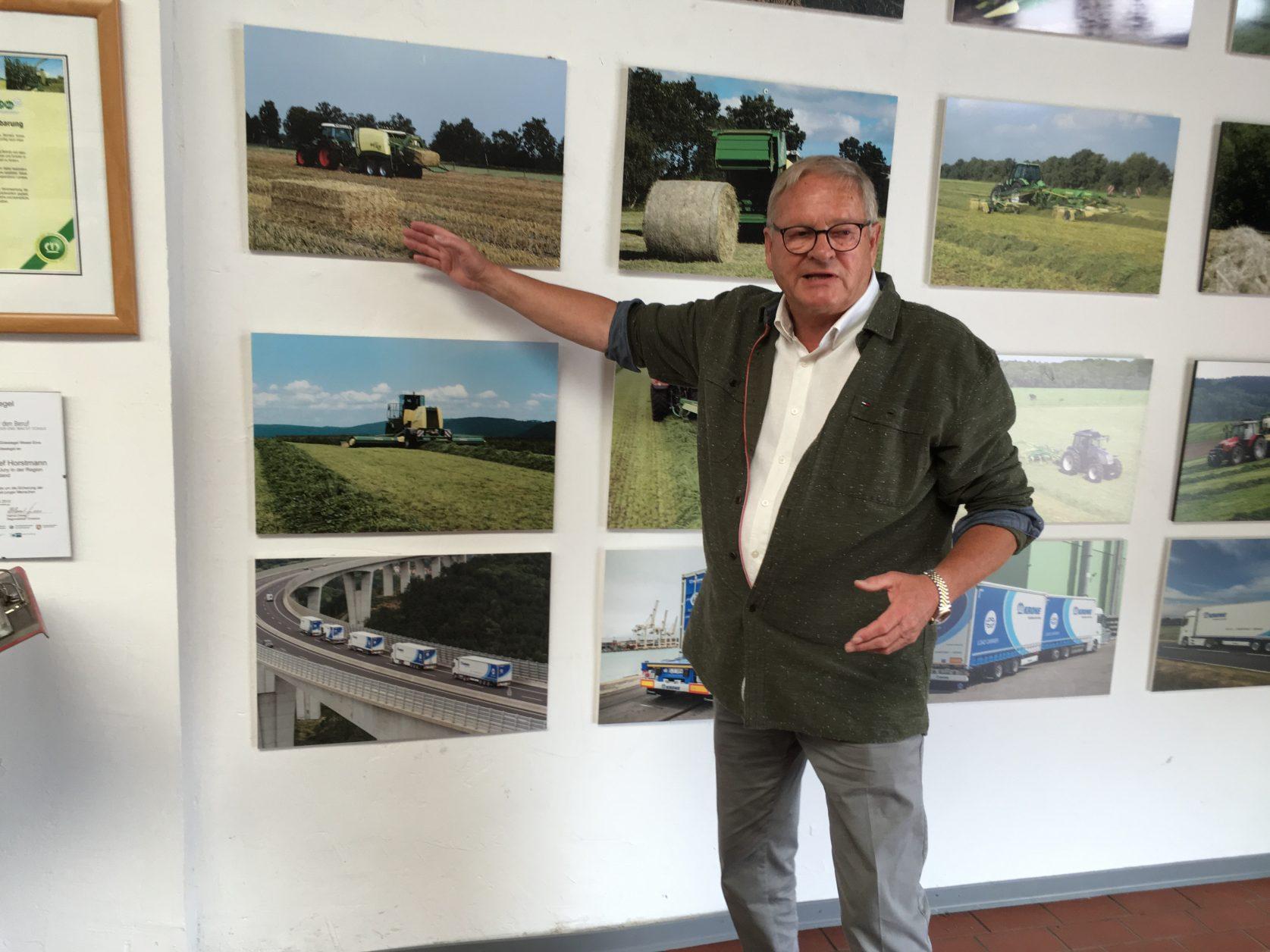 Ein stolzer Unternehmer: Walter Krone aus Spelle Foto: Weirauch