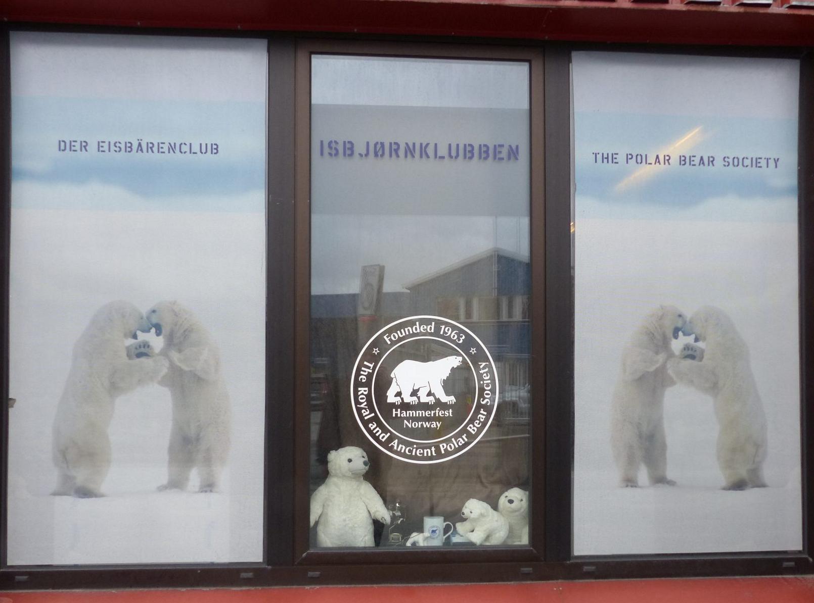 Eisbärenklub und Tourinformation in Hammerfest Foto: Weirauch