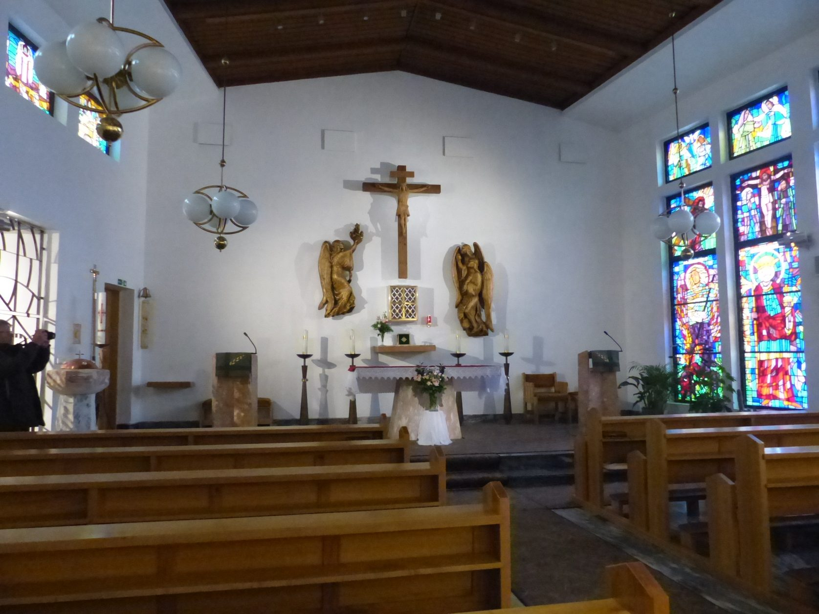 Blikc in die katholische Kapelle von Hammerfest Foto: Weirauch