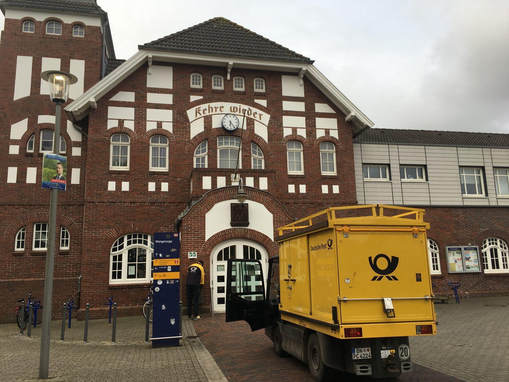 Der Bahnhof von Wangerooge wurde 1905 eingeweiht. Foto: Weirauch
