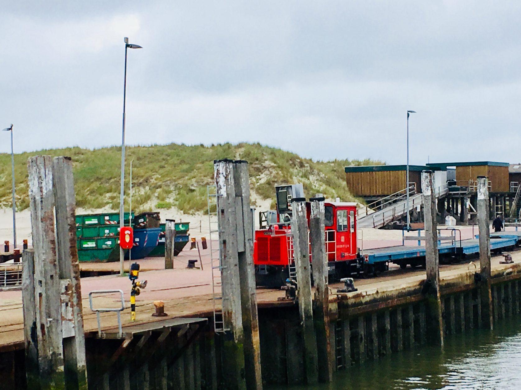 Ankunft am Hafen in Wangerooge Foto: Weirauch