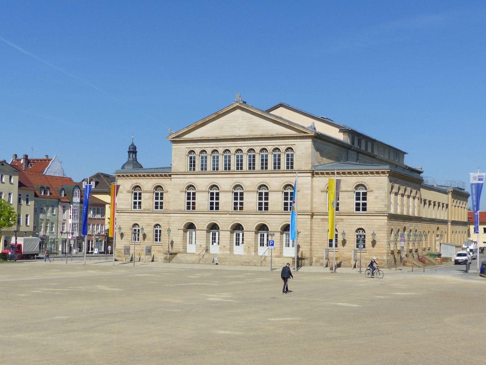 Das Landestheaters Coburg wurde in den 1840ern von Herzog Ernst II. als Hoftheater erbaut. Foto: Weirauch