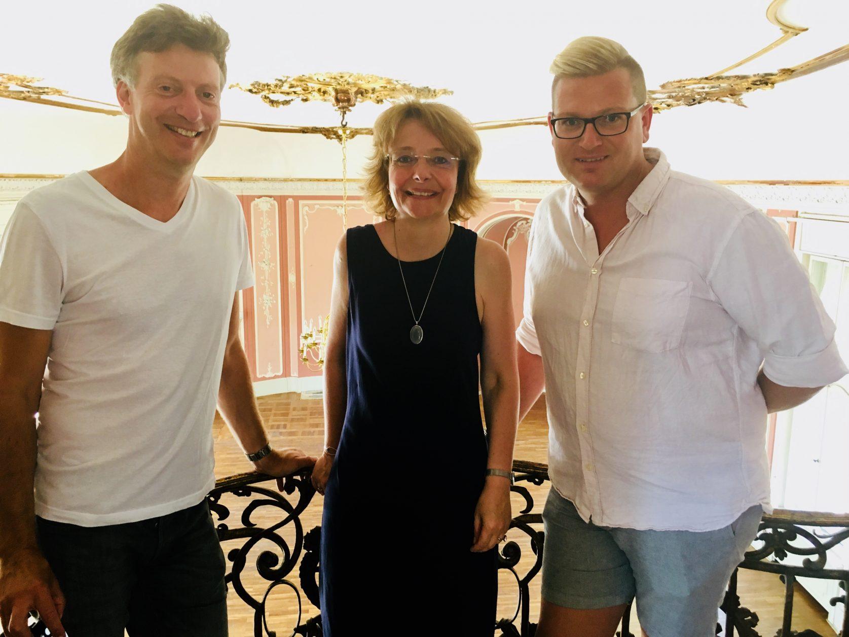 Robert Rauh, Dr. Gabriele Radecke und Schlossmanager Christian Schulze Foto: Weirauch