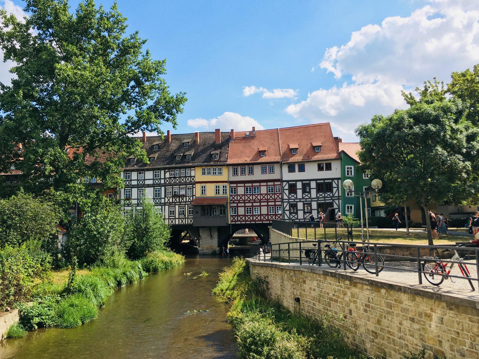 Blick auf die Krämerbrücke in Erfurt, Foto: Weirauch