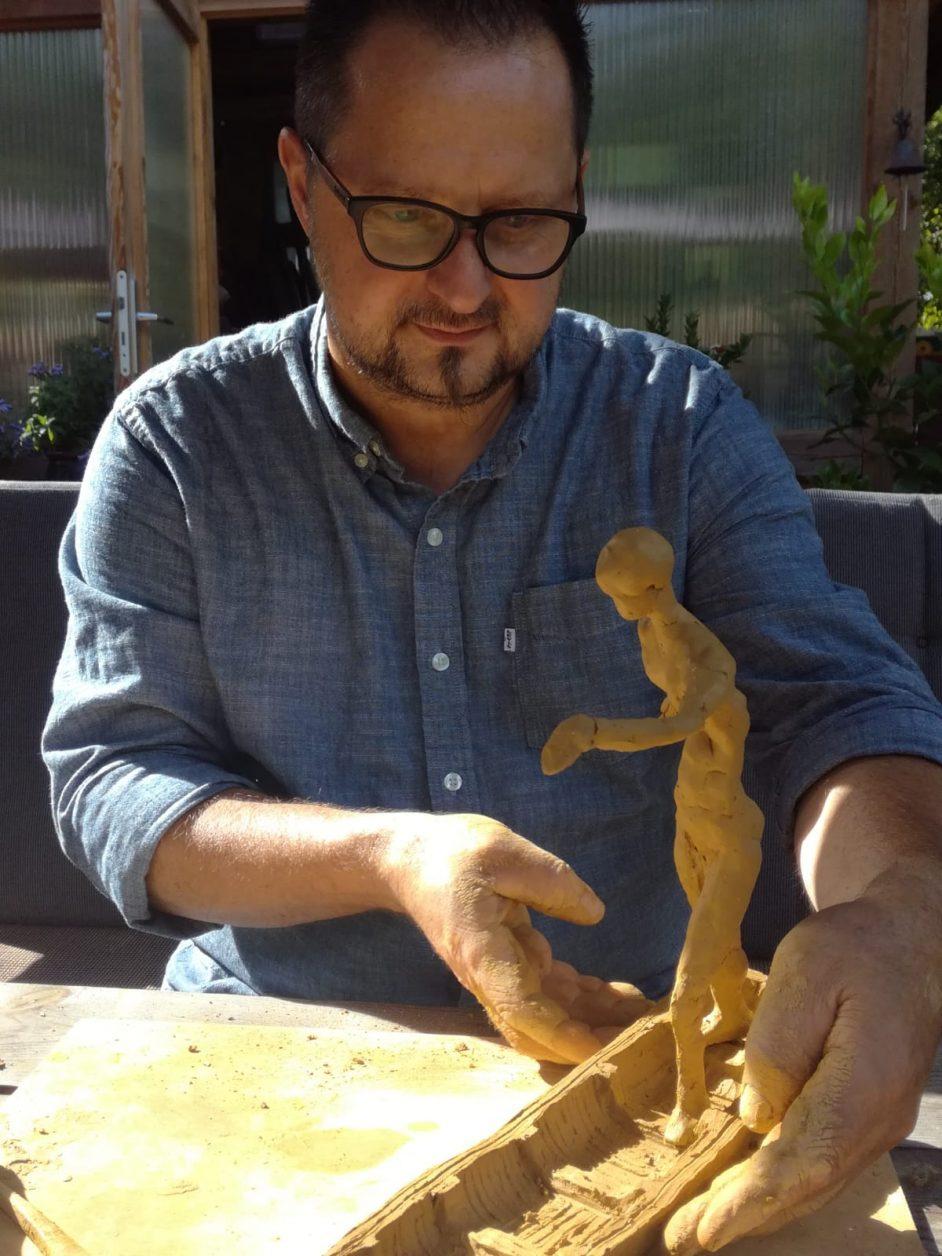 Bildhauer Henry Sawade Foto: privat