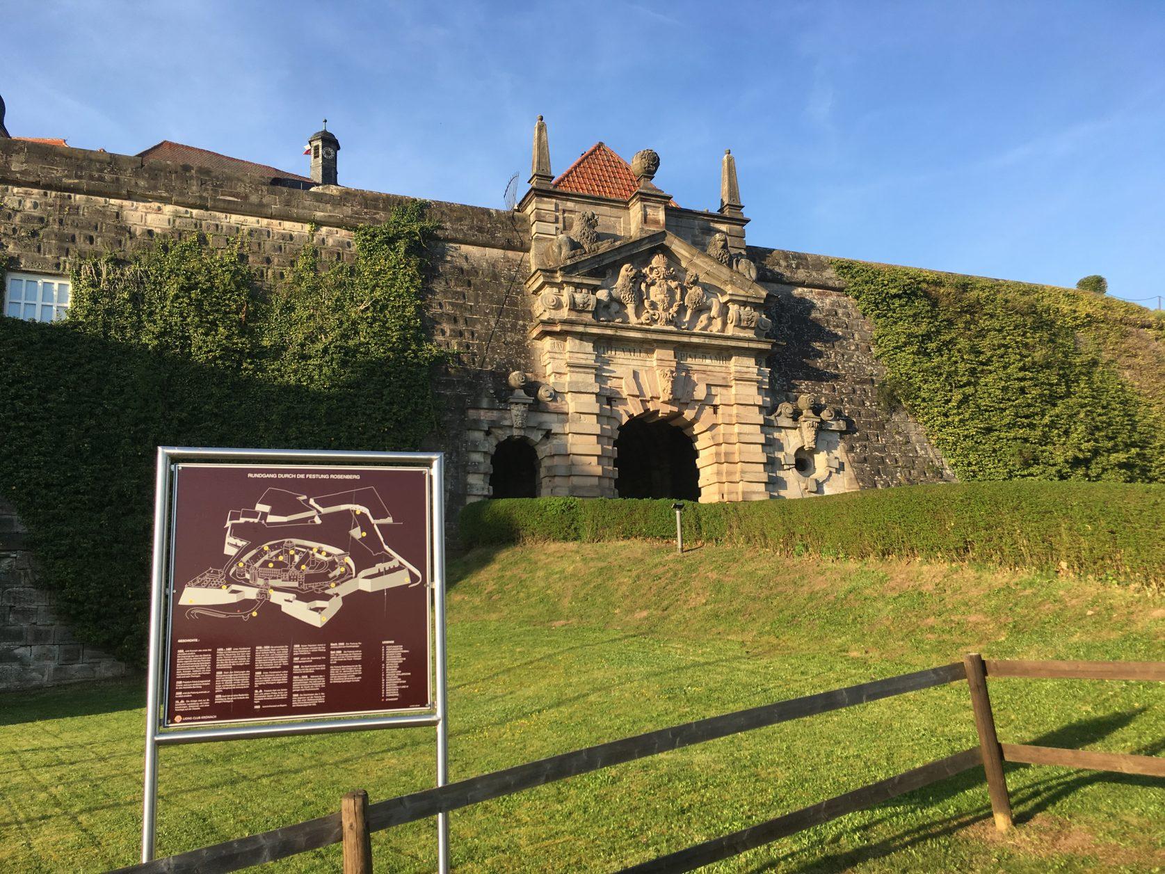 Blick auf die Festung Kronach, Foto: Weirauch