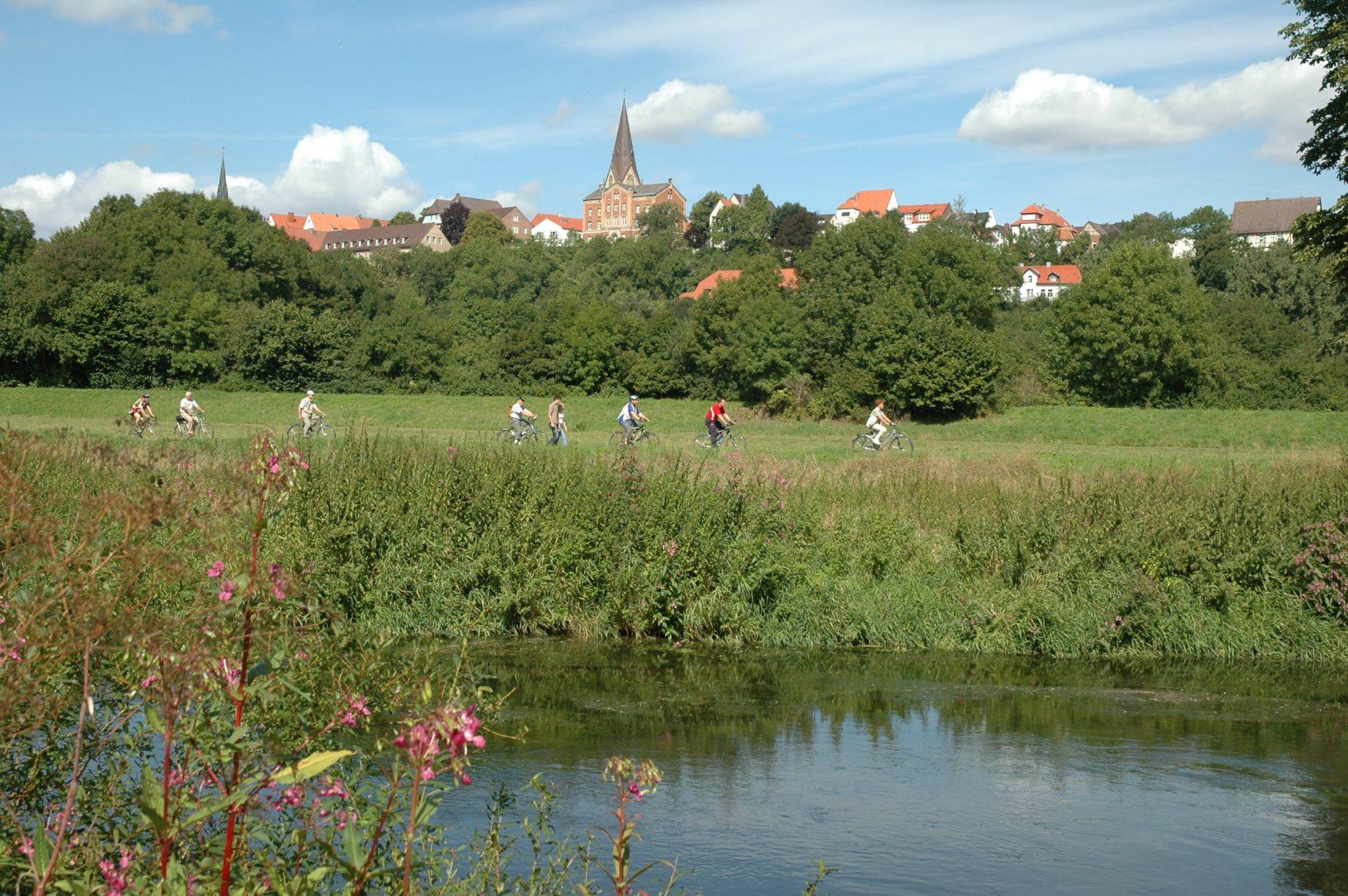 Am Diemelradweg in der Nähe von Warburg, Foto: Stadt Warburg