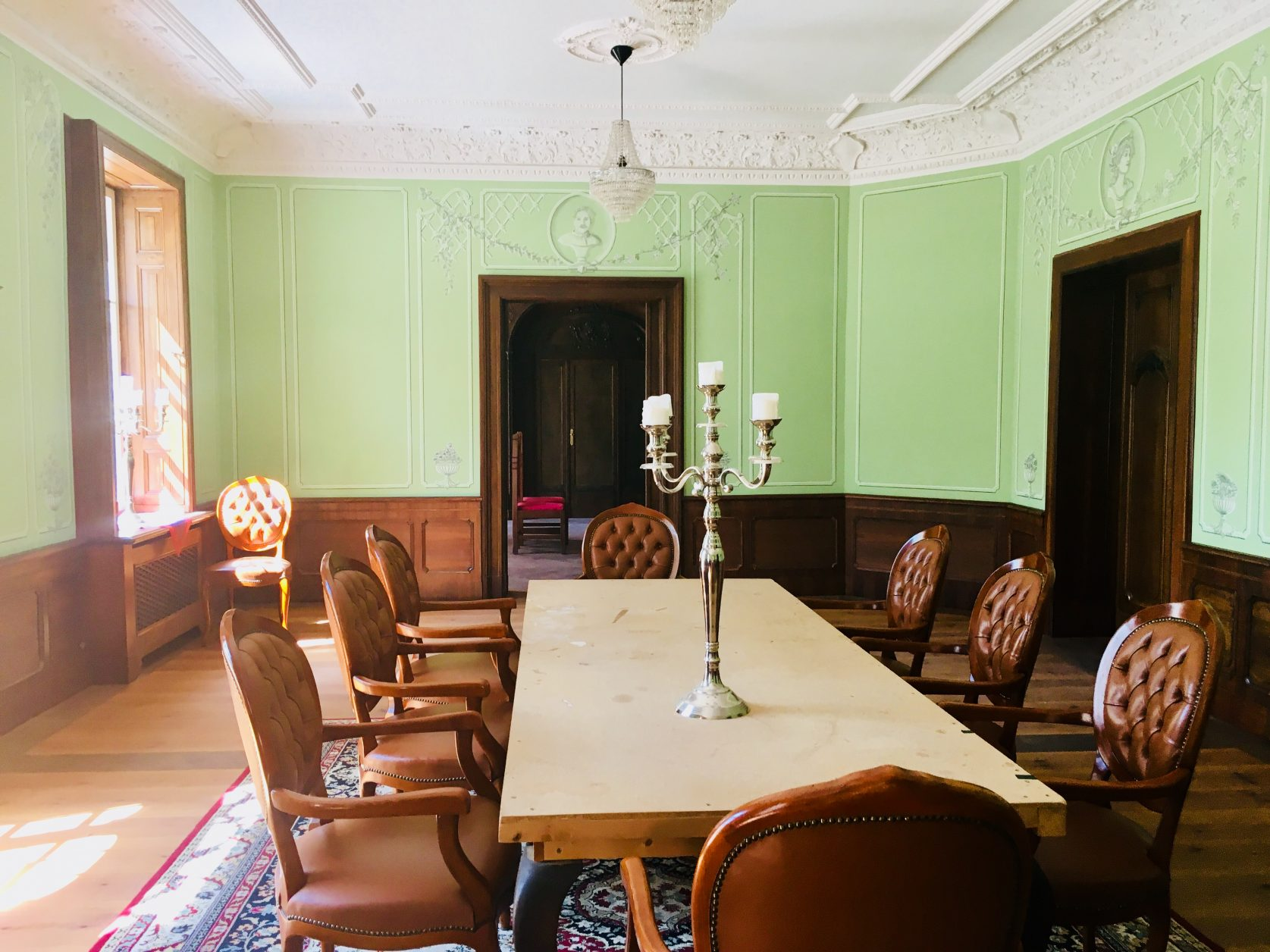 Blick in einen Raum Schloss Marquardt