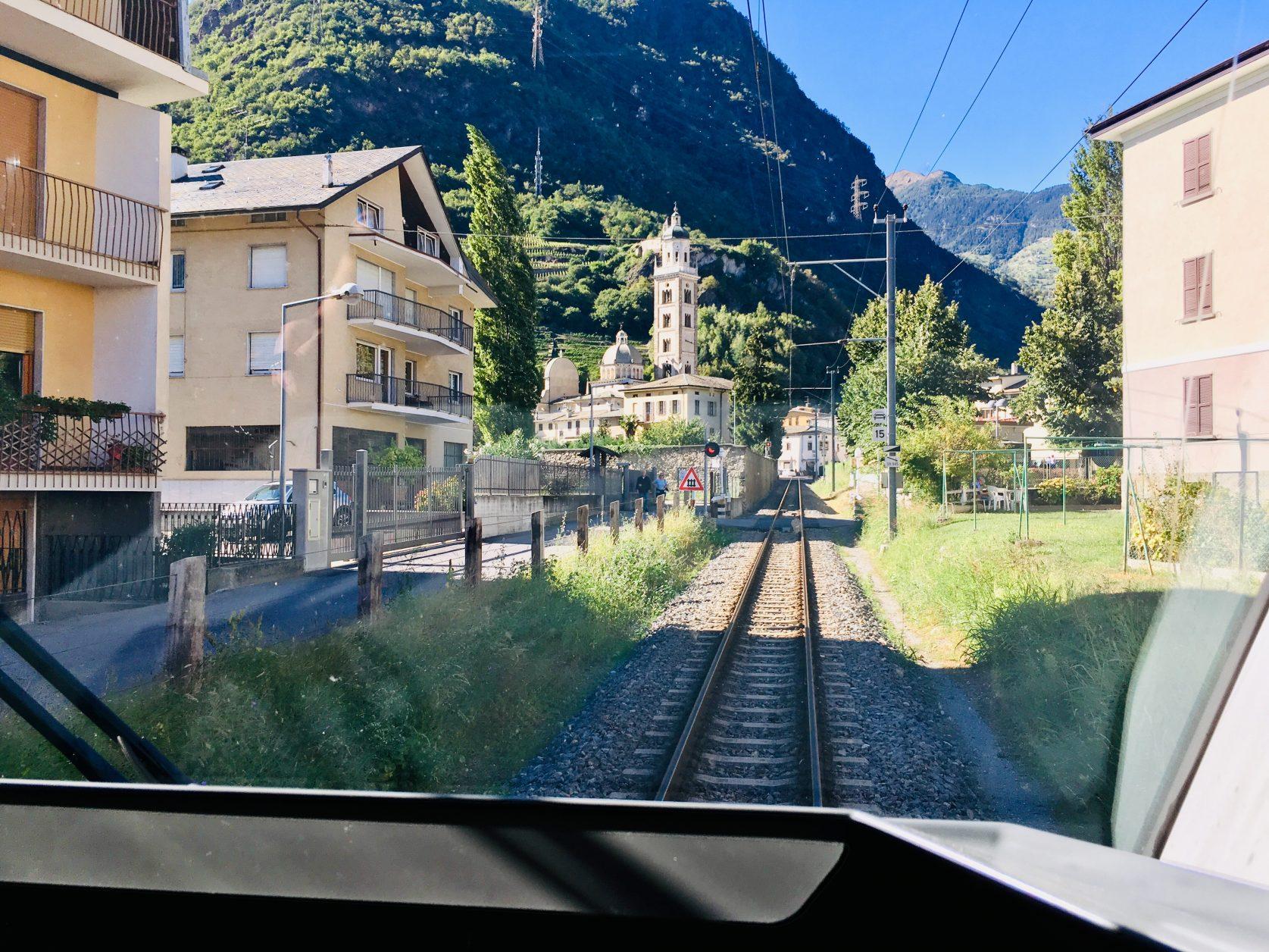 Hinaus aus Tirano gen Alpen nach Pontresina ... Foto: Weirauch