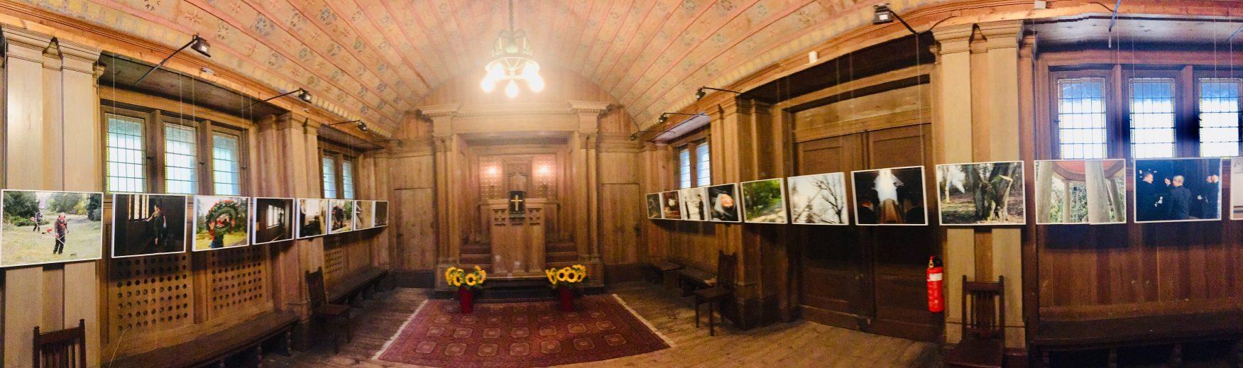 Blick in das Innere der kleinen Trauerkapelle ©Weirauch