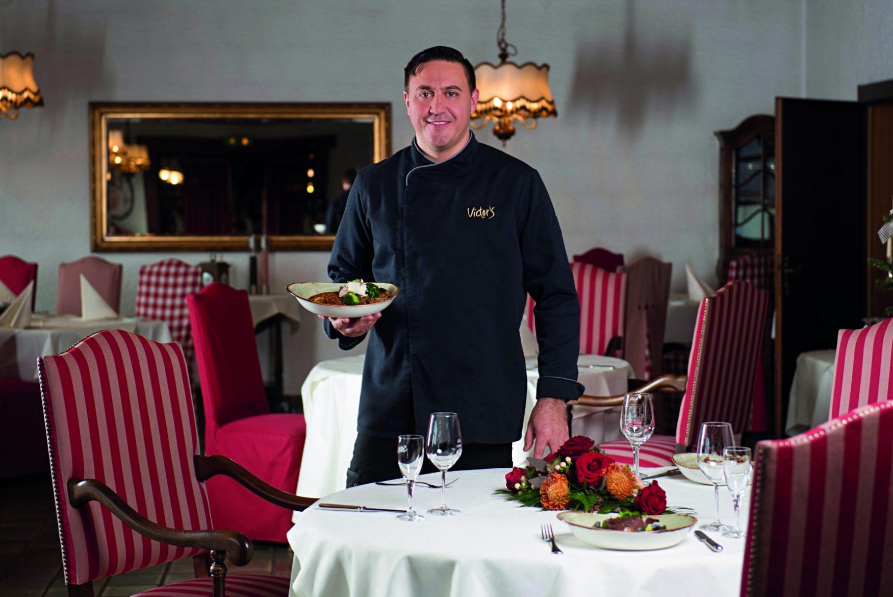Küchenchef Waldmar Oks im Victor´s Seehotel Weingärtner am Bostalsee, Foto: Victor´s Hotels