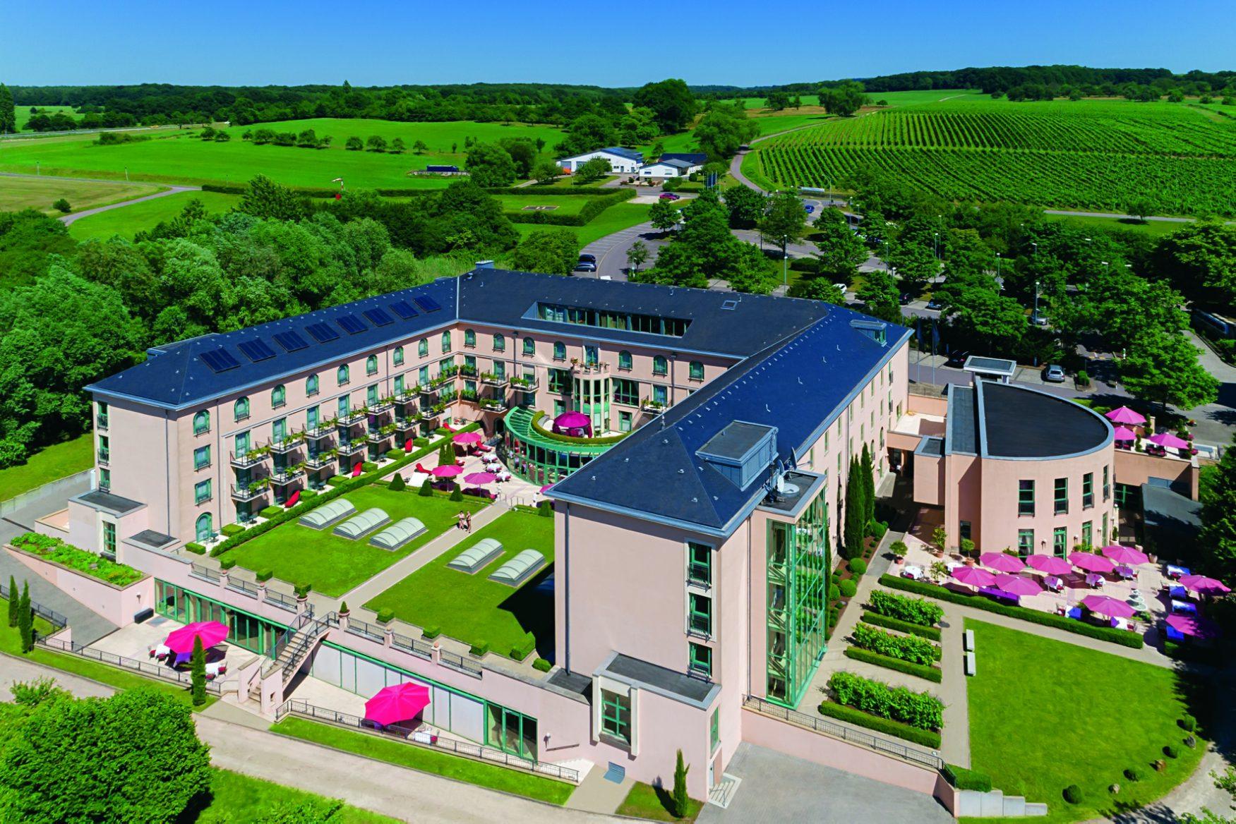 Blick aufdie Römische villa des Victor´s Residenzhotel Schloss Berg, Foto: Victor´s Residenz Hotel