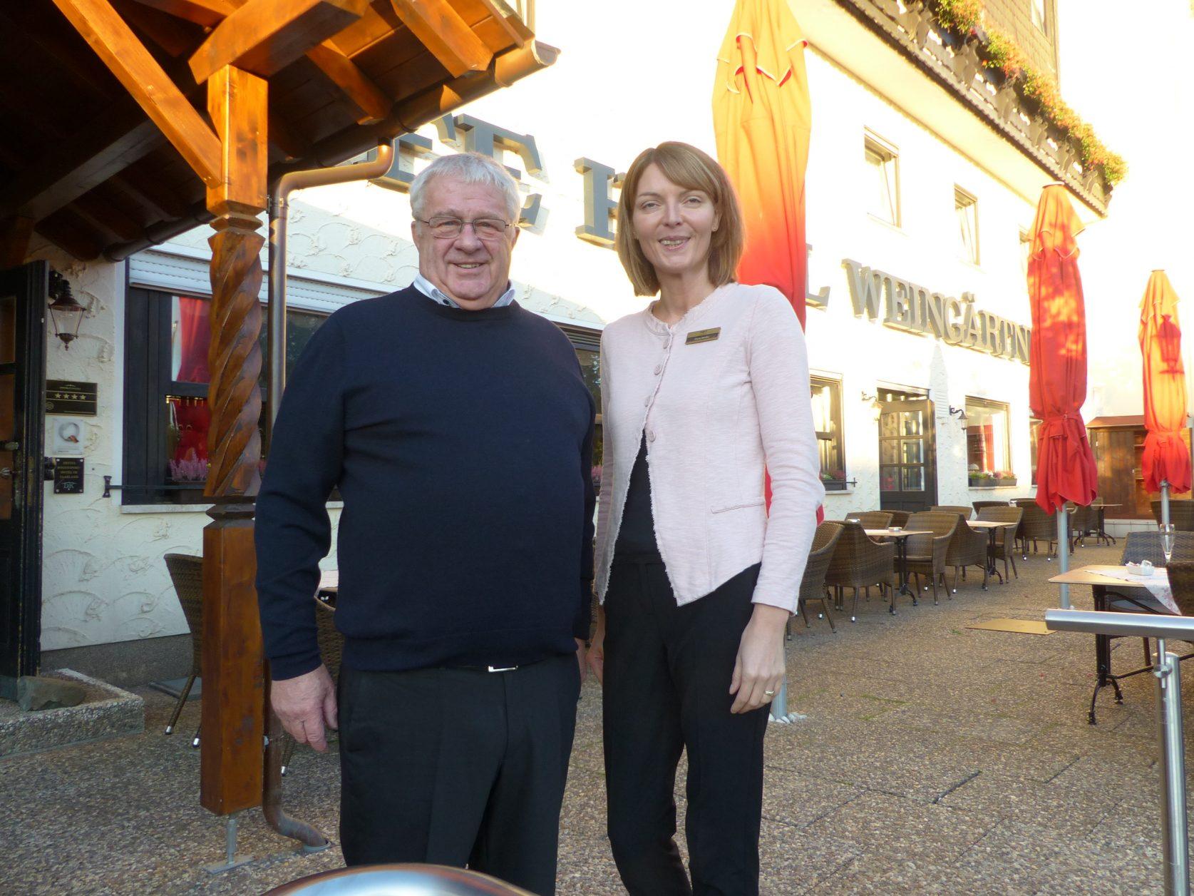 Die Chefs im Victor´s Seehotel Weingärtner am Bostalsee: Gerold Weingärtner und cindy Manfra, Foto. Dieter Weirauch