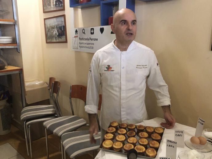 Guiseppe Perrone, einer der besten Patisseurs in Apulien