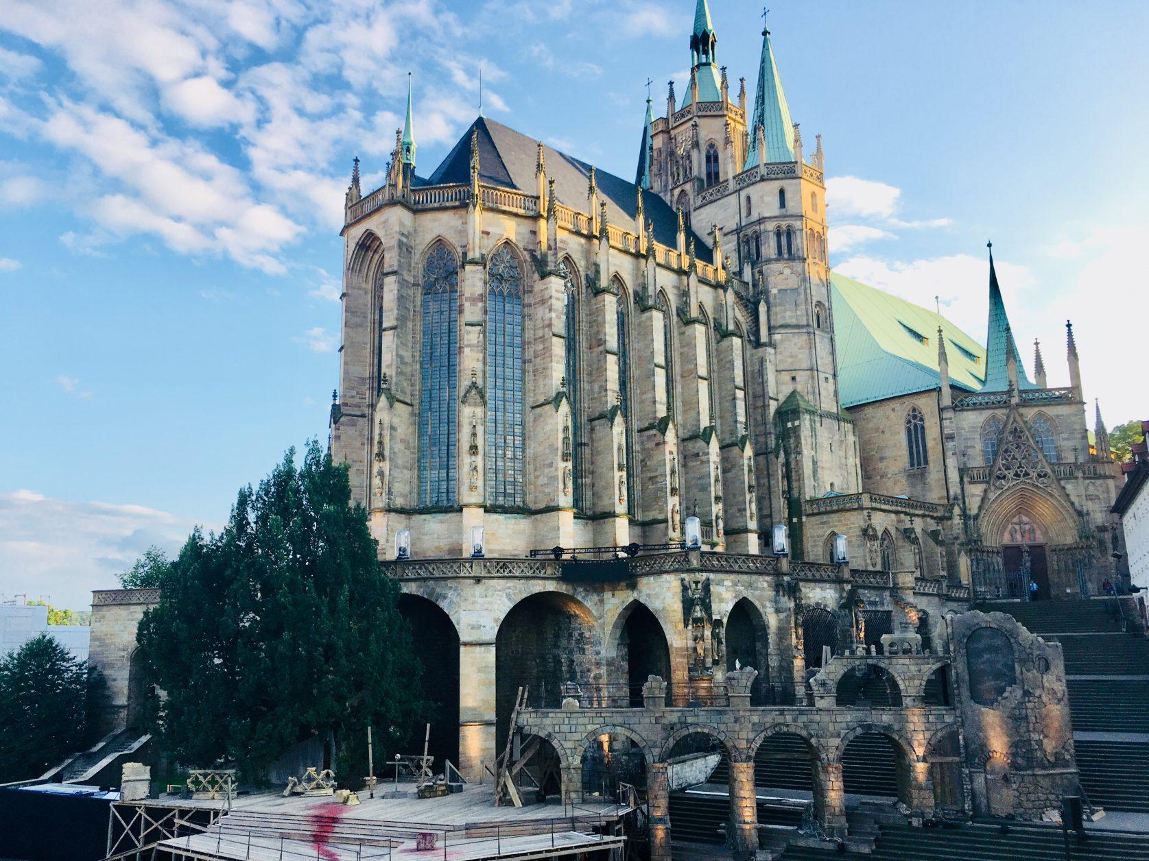 Blick zum Dom in Erfurt Foto: Weirauch