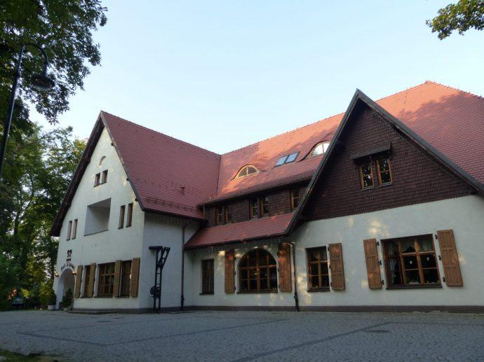 Das Kulturhaus und Restaurant im Stadtteil Niekischacht