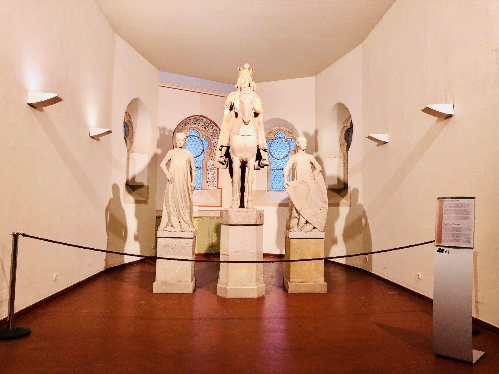 Der Magdeburger Reiter im Kulturhistorischen Museum Magdeburg ist ein Reiterstandbild, das um 1240 entstand. Es gilt als das früheste lebensgroße rundplastische Reiterstandbild der mittelalterlichen Skulptur und gehört zu den erstrangigen Werken der europäischen Kunstgeschichte, Foto: Weirauch