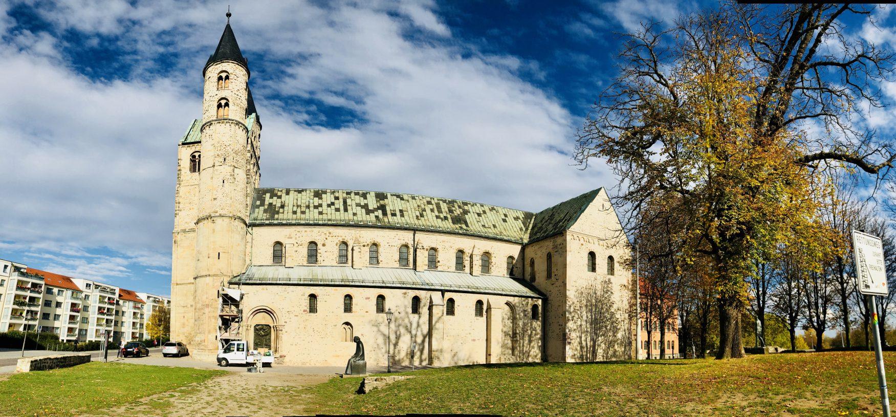 Das Magdeburger Kloster Unser Lieben Frauen zählt zu den bedeutendsten romanischen Anlagen in Deutschland. Hier haben das städtisches Kunstmuseum Kloster Unser Lieben Frauen und die Konzerthalle ihr Domizil, Foto: Weirauch