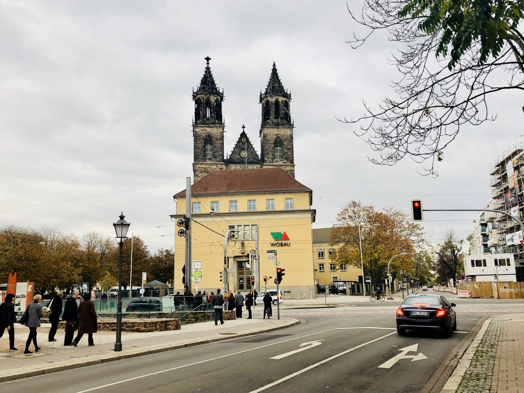 Das in der einstigen Reichbank untergebrachte neue Ottonianum befindet in einer Achse mit dem Magdeburger Dom, Foto: Weirauch