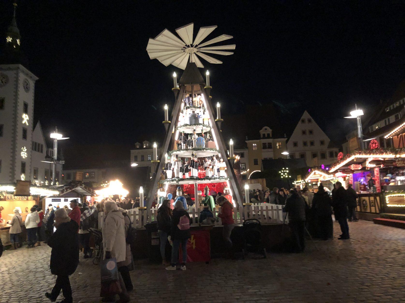 Weihnachtsmarkt Freiberg Erzgebirge