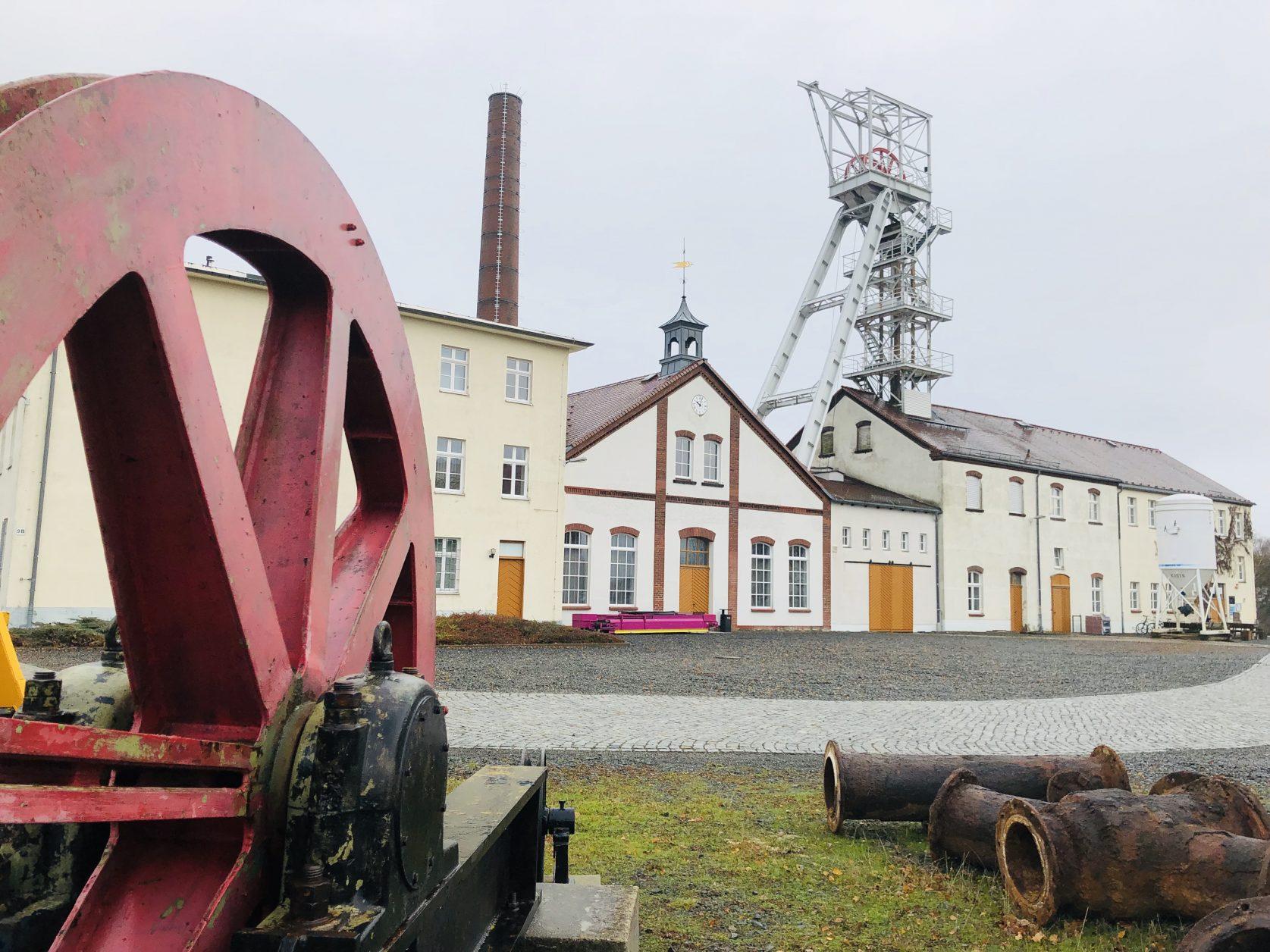 Blick auf das Lehr- und Besucherbergwerk Reiche Zeche am Rande von Freiberg, Foto: Weirauch