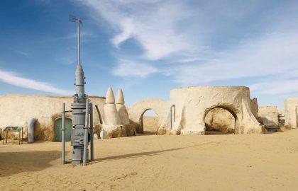 """An einem Drehort von  """"Star Wars"""" in den Dünen von Nefta"""