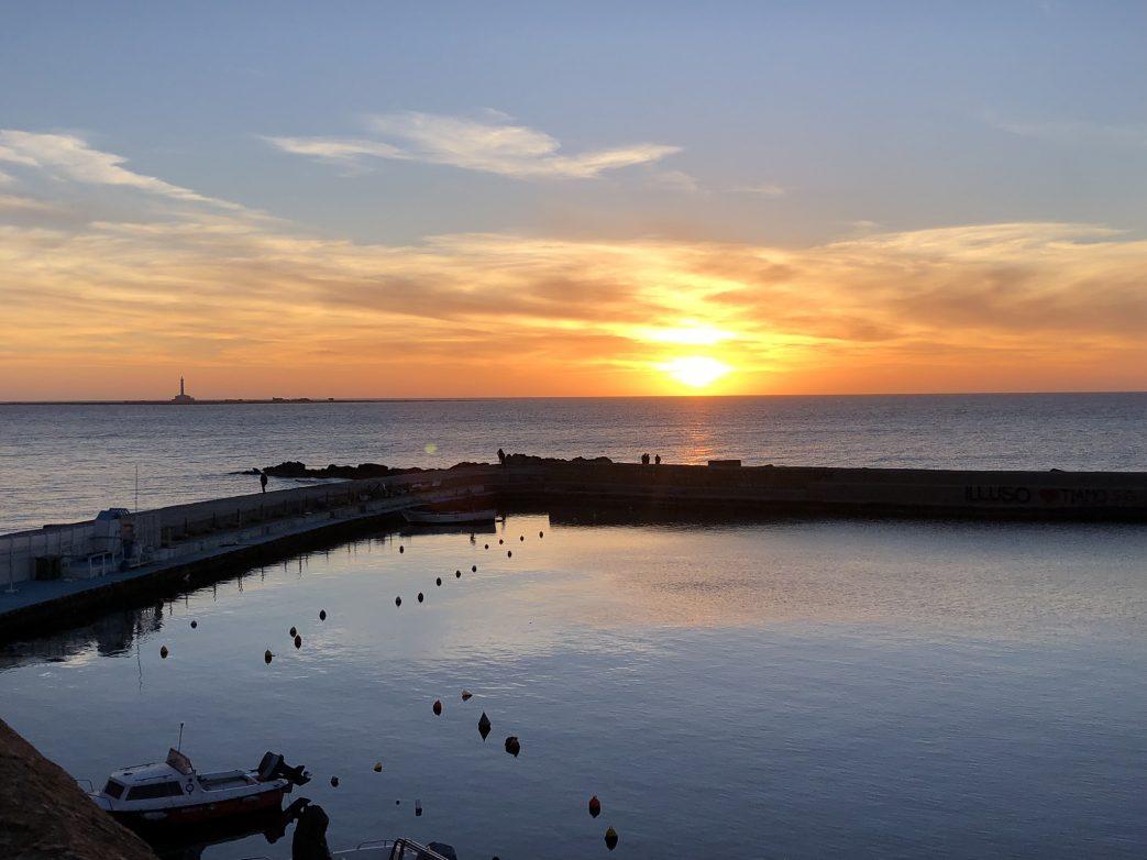 Sonnenuntergang im Hafen von Gallipoli
