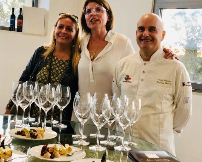 Während einer Präsentation im Weingut von Sonia De Simoni, Foto: Weirauch