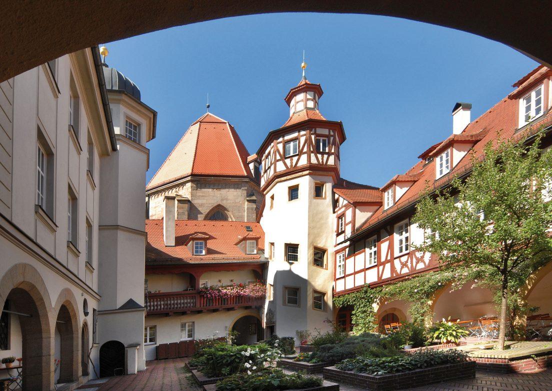 Blick in den Beringershof, Foto: Stadt Ansbach