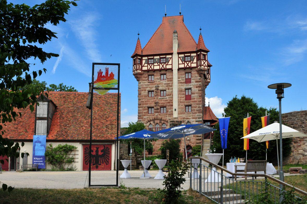 Burg Abenberg Innenhof Foto Hiltl